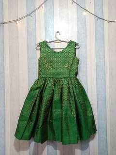 Dress hijau songket