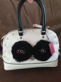 Preloved tas coach mini sierra panda
