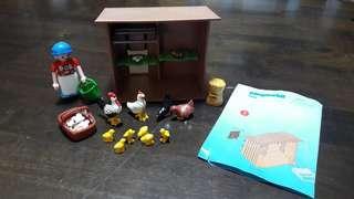 Children toys - playmobil 4492 chicken coop