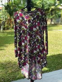 Floral Low High Blouse
