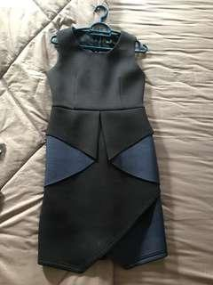 doublewoot blue and black structured dress