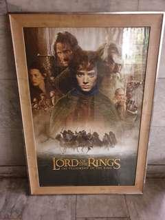 Lord of the rings framed poster