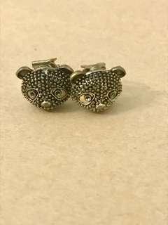 🚚 BN: Bear clip earrings |  Turtle clip earrings