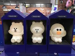 (New)Line Friends Touch on lamp, Brown 按製夜燈