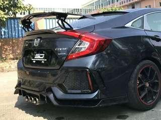 Vorsteiner Carbon GT wing fitted to Civic FC . Ready stock