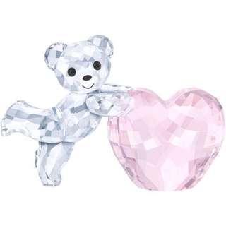 現貨1件:施華洛世奇水晶 KRIS小熊 – 粉紅色的心,原價$1060,有證明書,有原裝盒,1年保養15-12-2018開始生效