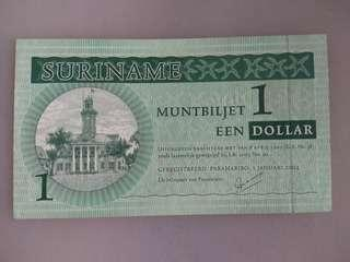 Suriname 1 dollar 2004 issue