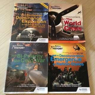 GCE O LEVEL ALL ABOUT HISTORY  PURE/ELECTIVE HISTORY TEXTBOOKS