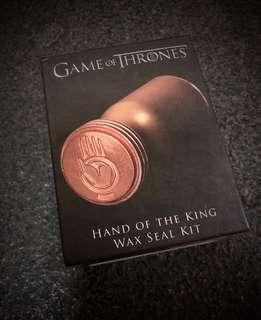 Game of Thrones Hand of King Wax Seal Set