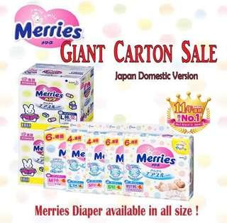 🚚 Merries Diapers (FREE COLOUR PENCILS)