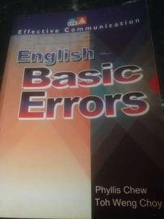 English Basic Errors (collection of written errors from students' written work and Cambridge O Level reports)