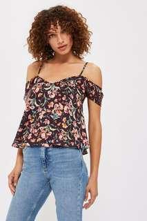 Topshop cold shoulder camisole top