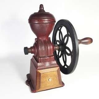 Vintage Solid Cast Iron Coffee Grinder