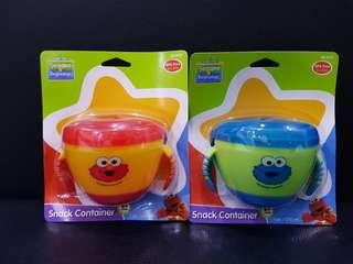 Sesame Street Sesame Beginning Snack Container Elmo And Cookie Monster As A Set Only.