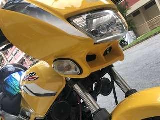 Yamaha rxz original head fearing. Head cowl kuning grey.