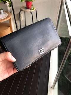 [Deal!!] Chanel black leather wallet