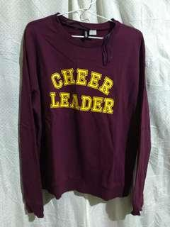 Sweater Cheer Leader H&M - Maroon