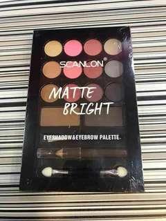 Eyeshadow and eyebrow palette