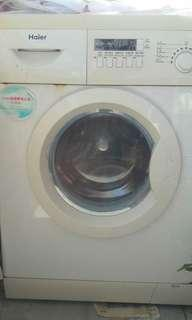 Haier washing machine.