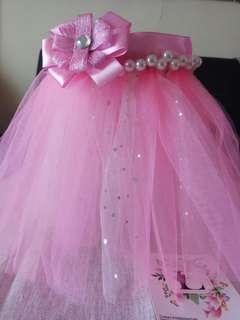 Pink tutu skirt for dogs