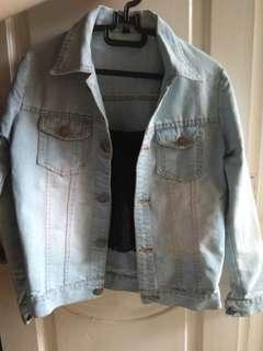 Jaket jacket jeans cewek wanita crop jaket crop
