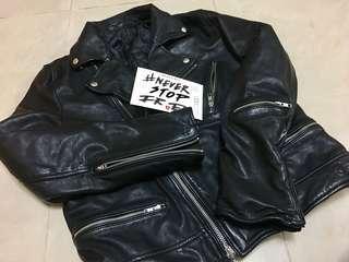 全新羊皮 皮褸 Lambskin Leather Biker / Rider Jacket Saint Laurent