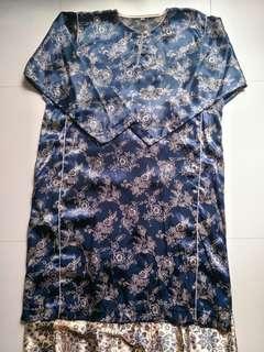 ⚡SALE🔛Floral Print Silk Baju Kurung set