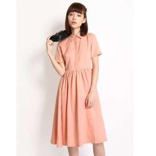 6b8328ffdf3 AFA Katie Shirt Dress in Pink