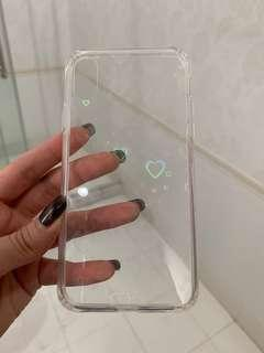 Iphone x/xs jelly heart case