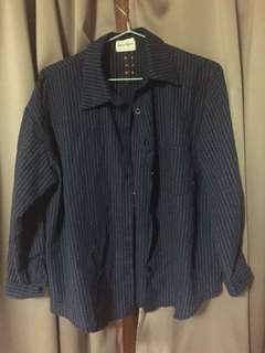 🚚 藍色條紋襯衫