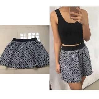 Garterized B&W Skirt