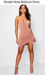 Boohoo Strappy Wrap Dress