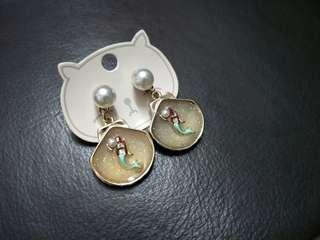 Mermaid Pearl Earrings #PRECNY60