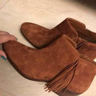 (Reduced from 600) Authentic Sam Edelman Paige Fringed Ankle Boot