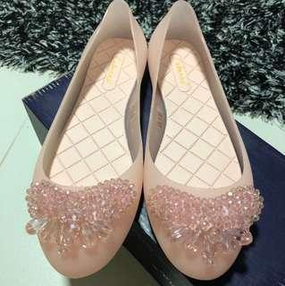 Crystal jelly shoes