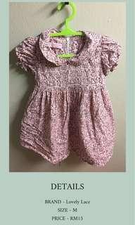 LOVELY LACE CAT BABY DRESS (size M/ 1yo)