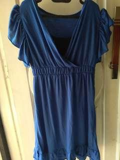 Dress blue electric