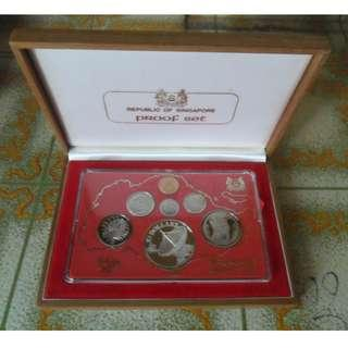1980 Singapore Proof Coin Set (1¢ - $10 Coin)