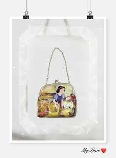 *全新品 韓國購入 Disney 可愛白雪 公主小手提包一個 售價HKD168