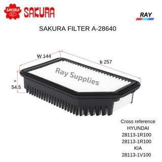 SAKURA AIR FILTER A-28640 A28640 28113-1R100, KIA , HYUNDAI