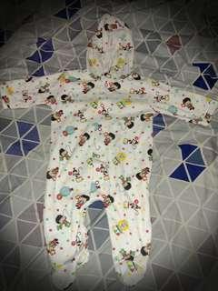 Frogsuit with hood 0-6mos