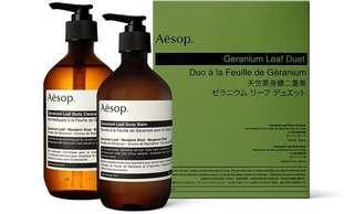 2x500ml Aesop Geranium Leaf Duet