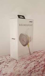 Bose SoundSport Wireless Headphones (Grey/ Pastel Yellow) BRAND NEW