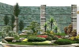 Dekorasi taman hias dan renopasi rumah