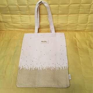 100%new Melvita tote bag 環保袋 書包 側孭袋 帆布袋 33x42