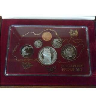 1982 Singapore Proof Coin Set (1¢ - $1 Coin)
