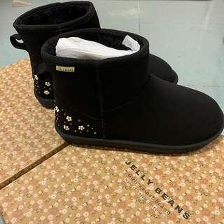 全新-Jelly Beans 黑色短boot