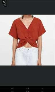 Knotted Texture Weave Top