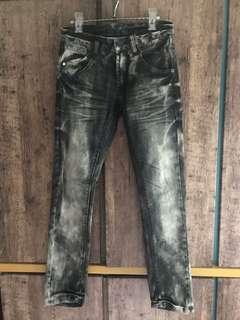 """28"""" 靚洗水牛仔褲 灰黑 jeans"""