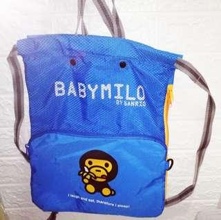 購自日本正版 Babymilo 馬騮仔 索繩 背囊背包